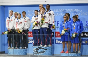 4x100m mens medley reward Kuimov Egor of Tatarstan 2nd
